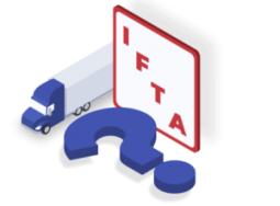 IFTA, or International Fuel Tax Agreement, is an agreement between 48 contiguous US states and 10 Canadian provinces, making travel through different states and provinces easier with one single fuel license. If you have a truck with 2 or more axles exceeding 26,000 pounds, you must have an IFTA license. The report is due at the end of each month following after the end of each quarter.